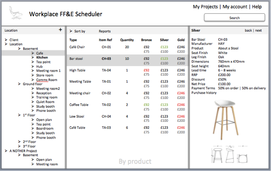 Advanced Workplace FF&E Designer Software – Workplace©